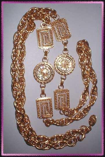 Gold Rhinestone Designer Necklace Premier Designs 9329