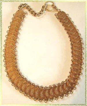 Gold Coin Necklace Vintage British Virgin Islands 9620