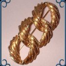 Gold Love Knot Pin NAPIER Vintage Signed Brooch 8975