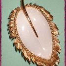 Vintage Gold Leaf Pin NAPIER 1950s Enamel Brooch 8906