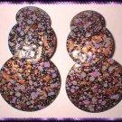 Copper Earrings Vintage Tiered Copper Enamel Circles 8861