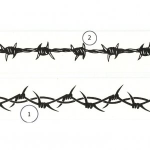 "6"" Barbed Wire Wrist Band Tattoo"