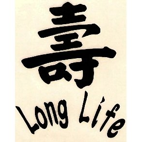 "1.5"" ""Long Life"" Chinese Symbol Tattoo"