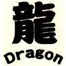 "1.5"" ""Dragon"" Chinese Symbol Tattoo"