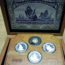 Chistopher Columbus Quincentenary Set In Wood Box
