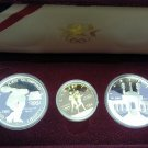 1983-1984 Los Angeles Olympiad 3 Coin Set (Proof)