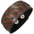 Laced Leather Cuff Bracelet