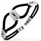 Rubber Bracelet w/ Stainless Steel Scorpion