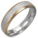 Stainless Steel 2-Tone Ring - Size 8