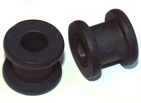 Pair of Steel Opaqued Black Ear Flesth Tunnel Plugs 2Gauge 6mm