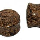 Pair Natural Stone Saddle Plugs 3/4 Gauge or 19mm