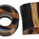 Pair Organic Ebony Ear Wood Tunnel Plugs 0Gauges - 8mm