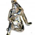 3D Silver Virgo Zodiac Sign Pendant