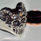 Sterling Silver Skull Ring Size 10