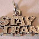 Sterling Silver Charm Pendant Stay Clean