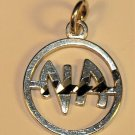 Sterling Silver NA Narcotics Anonymous Narcoticos Anonimos Charm Pendant