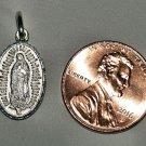 Sterling Silver Virgin Mary Virgen Maria Charm Pendant Medal