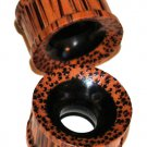 Pair Coco Wood Ear Tunnel Plugs Double Flared 3/4,19mm