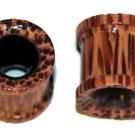 Pair Organic Coco Wood Ear Tunnel Plugs 00 Gauge 10mm