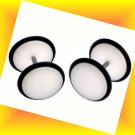 Pair 16G White Ear Cheater Look like 00G Illusion Plugs