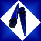 Pair Blue UV Acrylic Translucent 9/16  14mm Ear Taper Expander Stretcher Plugs 9/16  14mm