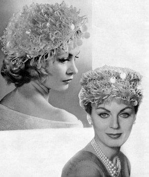 Vintage Crochet Beret And Loop Stitch Pill Box Hat PDF Pattern a0a88aac3f3