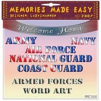 Armed Forces Word Art