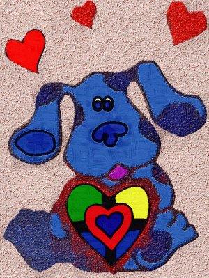 8x10 Blues Clues-Heart