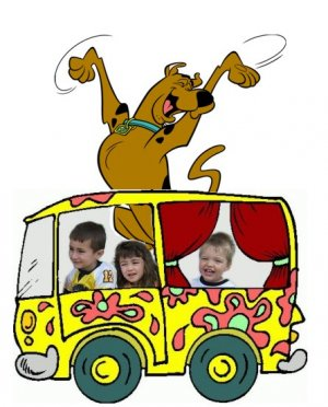 16x20 Customized Scooby Doo Poster Featuring your child's picture