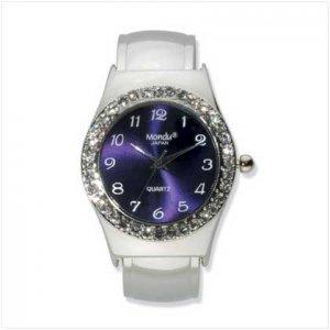 Silver Plated Cuff Bracelet Watch