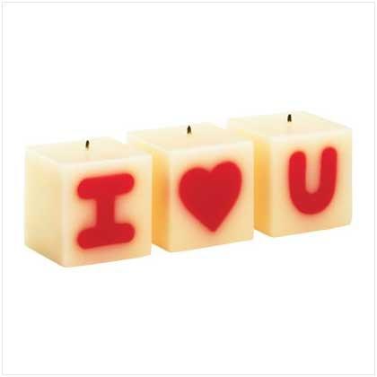 I Love U Candle Set