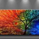 Finding Paradise!~Framed! Modern Wall Decor Art Landscape Huge Oil Painting On Canvas LA1-027