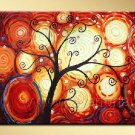 A Smiling Tree~ Framed! Modern Wall Decor Art Landscape Huge Oil Painting On Canvas LA1-034