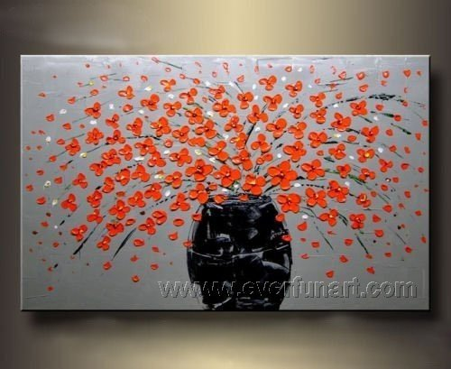 Hot Sell Beautiful Flower Oil Painting On Canvas (+ Frame) FL1-053