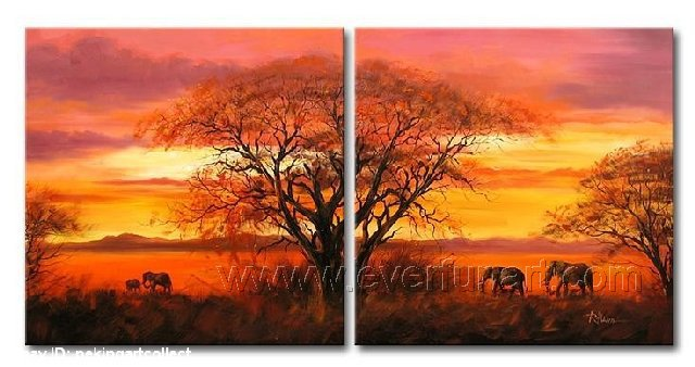Tree Under The Sun! Framed! Modern Wall Decor Art Landscape Huge Oil Painting On Canvas XD2-008