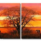 Tree Under The Sun! Framed! Modern Wall Decor Art Landscape Huge Oil Painting On Canvas XD2-008