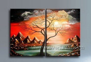 Never Stop Growing ~! Framed! Modern Wall Decor Art Landscape Huge Oil Painting On Canvas XD2-014