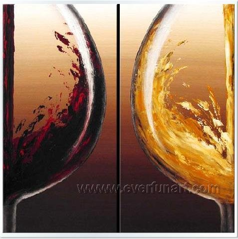 Huge Mordern Wine Art Wall Decor Canvas Oil Painting (+ Frame) XD2-036