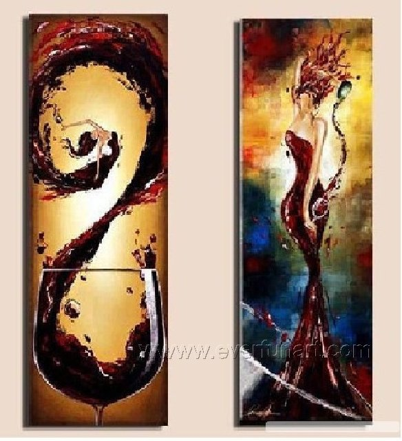 Huge Mordern Wine Art Wall Decor Canvas Oil Painting (+ Frame) XD2-039