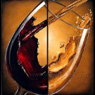 Huge Mordern Wine Art Wall Decor Canvas Oil Painting (+ Frame) XD2-040