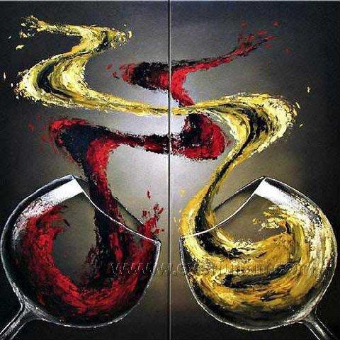 Huge Mordern Wine Art Wall Decor Canvas Oil Painting (+ Frame) XD2-041