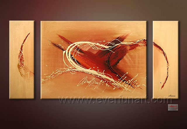Good ! New Modern Abstract Huge Art Oil Painting on Canvas (+ Frame) XD3-040