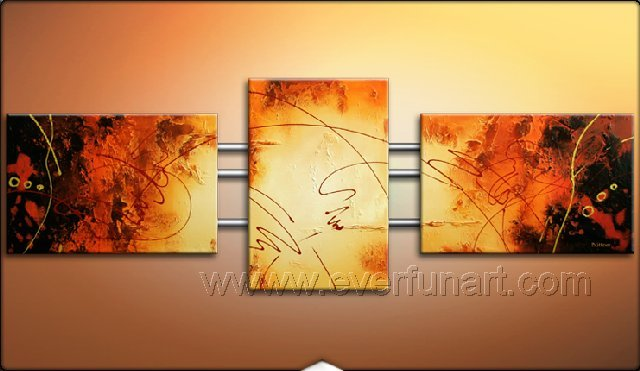 Good ! New Modern Abstract Huge Art Oil Painting on Canvas (+ Frame) XD3-047