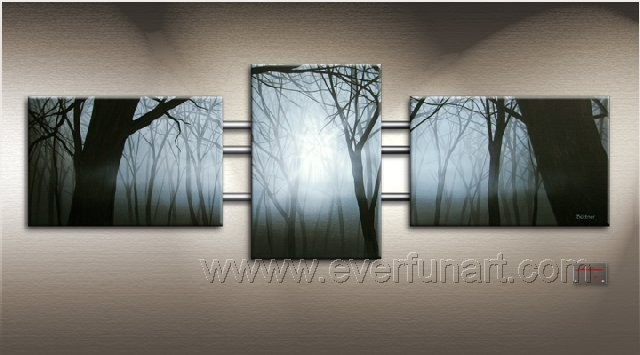 Good ! New Modern Abstract Huge Art Oil Painting on Canvas (+ Frame) XD3-051