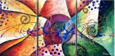 Good ! New Modern Abstract Huge Art Oil Painting on Canvas (+ Frame) XD3-085