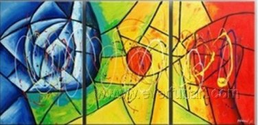 Good ! New Modern Abstract Huge Art Oil Painting on Canvas (+ Frame) XD3-095