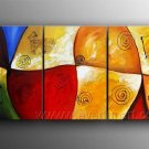 Good ! New Modern Abstract Huge Art Oil Painting on Canvas (+ Frame) XD3-112