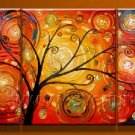 Mystic Tree Touch The Sun!Framed!Modern Wall Decor Art Landscape Oil Painting On Canvas LA3-017