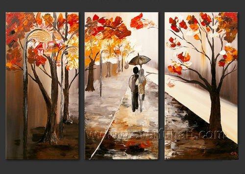 I Will Stand By You! Hot! Nice Landscape Oil Painting (+ Frame) LA3-032