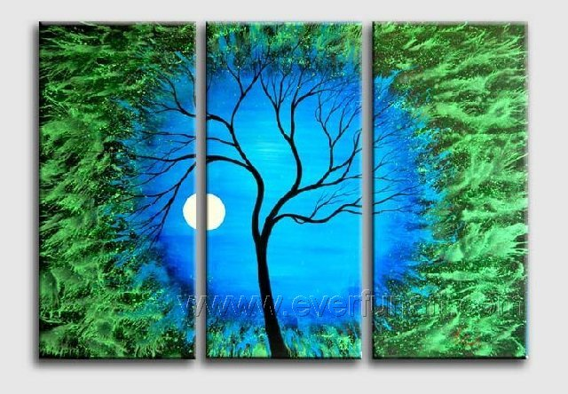Sleep Under The Moonlight~ Hot! Nice Landscape Oil Painting (+ Frame) LA3-044